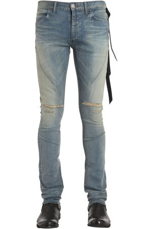 SEIGEKI 16cm Skinny Blue Washed Denim Jeans
