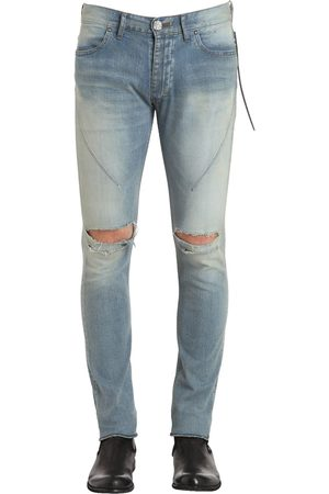 SEIGEKI Men Skinny - 16cm Skinny Crash Denim Jeans