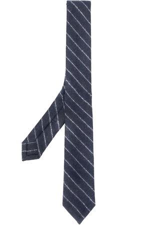 Thom Browne Tonal ground chalk stripe tie