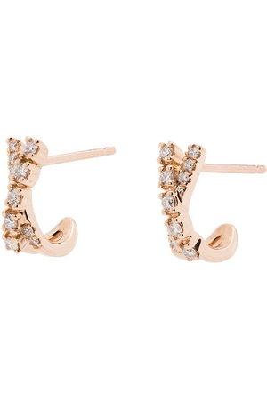 Dana Rebecca Designs Ava Bea 14kt rose gold diamond huggie earrings