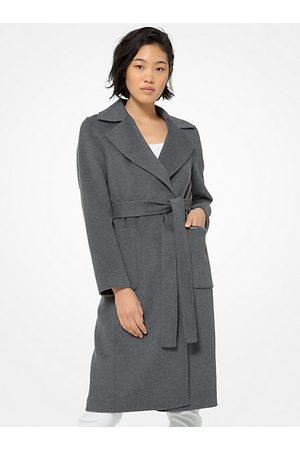 Michael Kors Coats - MK Double Face Wool Blend Robe Coat - Derby