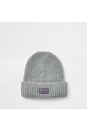 maison riviera Men Beanies - Mens River Island knitted beanie hat