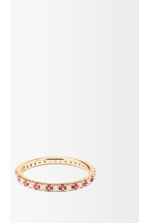 Anissa Kermiche Eternity Diamond, Pink-sapphire & 14kt Ring - Womens