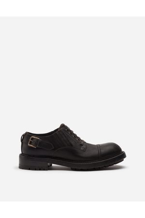Dolce & Gabbana Lace-Ups - COWHIDE SLIP-ON DERBY SHOES