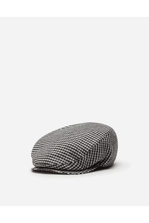 Dolce & Gabbana Hats and Gloves - WOOL HOUNDSTOOTH FLAT CAP