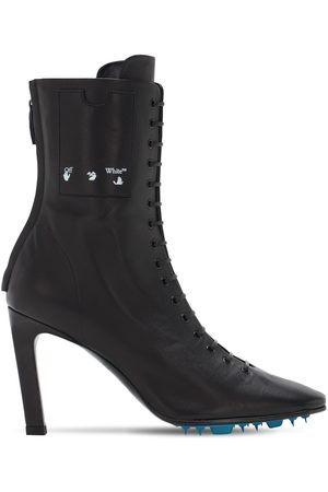 OFF-WHITE 100mm Leather Ankle Boots