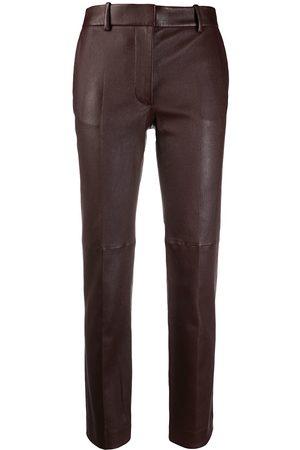 Joseph Lambskin straight-leg trousers