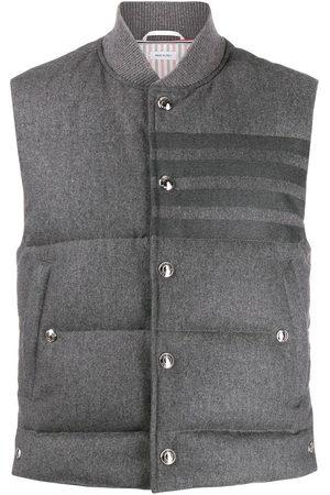Thom Browne 4-Bar down-filled flannel gilet
