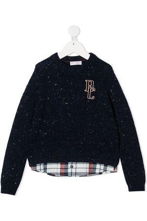 Brunello Cucinelli Layered check print jumper