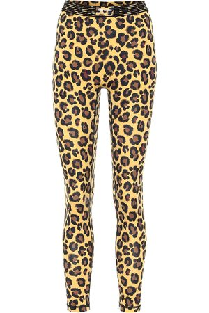 Adam Selman Sport Bonded leopard-print leggings