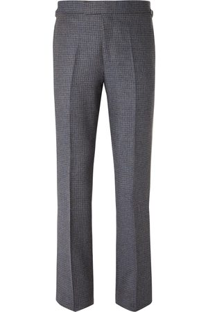 KINGSMAN Men Formal Trousers - Conrad Slim-Fit Checked Wool Trousers