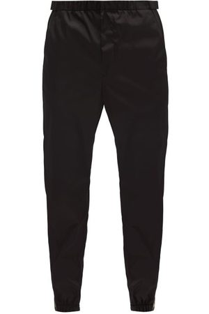Prada Logo-patch Gabardine Trackpants - Mens