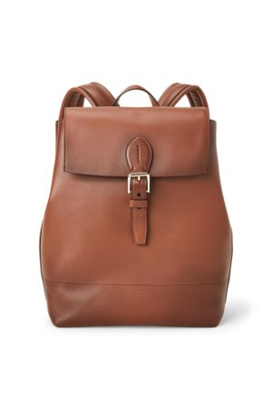 Ralph Lauren Burnished Calfskin Voyager Backpack