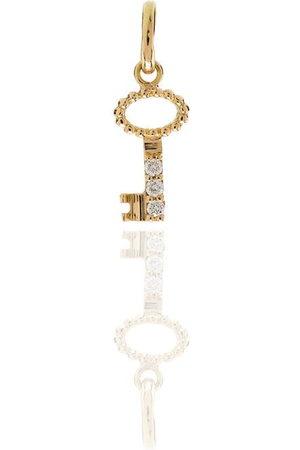GIGI CLOZEAU 18kt yellow diamond key charm
