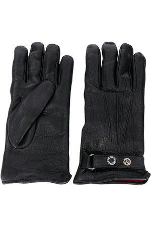 Alexander McQueen Men Gloves - Press-stud strap leather gloves