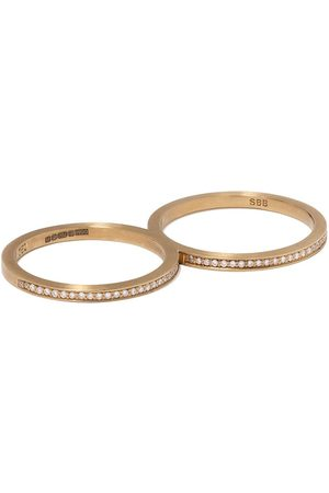 SOPHIE BILLE BRAHE 18kt yellow Rue De Diamant double ring