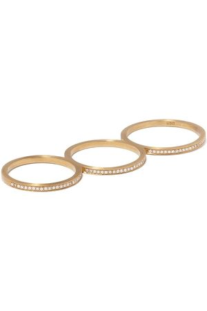 SOPHIE BILLE BRAHE 18kt yellow Rue De Diamant triple ring