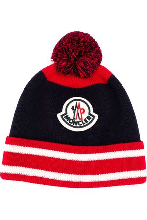 Moncler Logo embroidered beanie hat