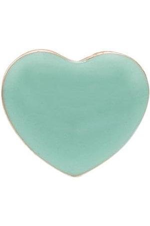 ALISON LOU 14kt Mini Puffy heart-shaped earring