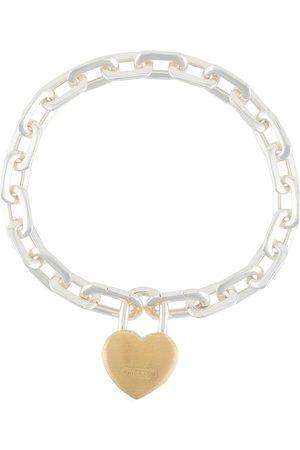AMBUSH Bracelets - Heart padlock chain bracelet