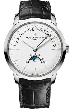 Vacheron Constantin Men Watches - White Patrimony Moon Phase Retrograde Date Watch 42.5mm