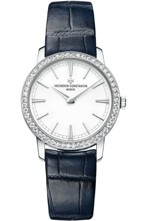 Vacheron Constantin White and Diamond Traditionnelle Watch 33mm