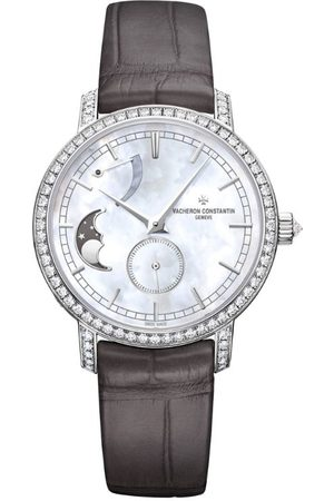 Vacheron Constantin White and Diamond Traditionnelle Moon Phase Watch 36mm