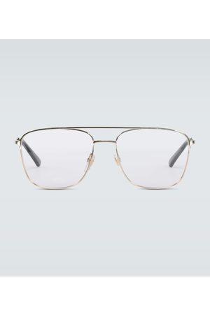 Gucci Square-framed aviator glasses