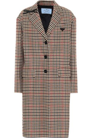Prada Checked wool and cashmere coat