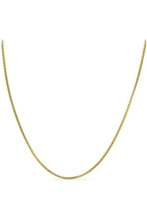 SuperJeweler 14K (8.60 g) Over Sterling Silver 4.9mm Popcorn Chain Necklace, 18 Inches