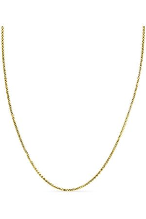 SuperJeweler 14K (6.70 g) Over Sterling Silver 3.5mm Popcorn Chain Necklace, 18 Inches
