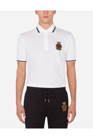 Dolce & Gabbana T-Shirts and Polos - COTTON POLO-SHIRT WITH DG PATCH