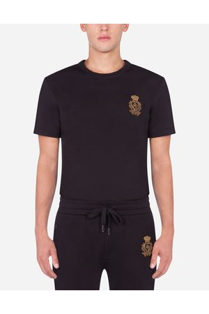 Dolce & Gabbana T-Shirts and Polos - COTTON T-SHIRT WITH PATCH