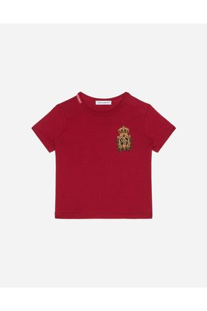 Dolce & Gabbana Collection - JERSEY T-SHIRT WITH HERALDIC DG PATCH