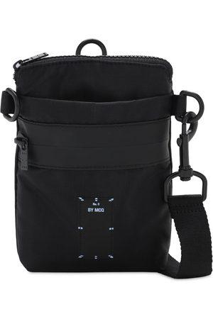 McQ Core Logo Embroidery Nylon Crossbody Bag