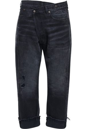 R13 Crossover Cropped Cotton Denim Jeans