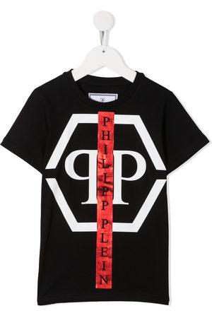 Philipp Plein Round neck logo print T-shirt