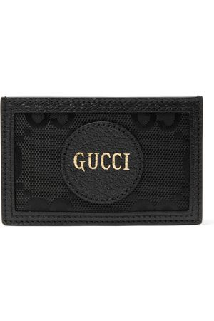Gucci Men Purses & Wallets - GG Off The Grid Monogrammed Leather-Trimmed ECONYL Cardholder