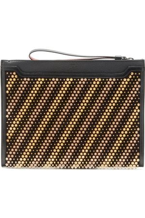 Christian Louboutin Skypouch Studded Leather Pouch - Mens - Multi
