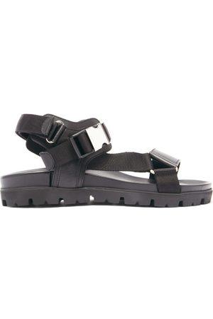 Prada Men Sandals - Velcro-strap Leather Sandals - Mens