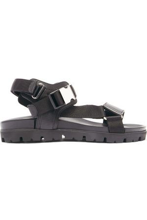 Prada Velcro-strap Leather Sandals - Mens