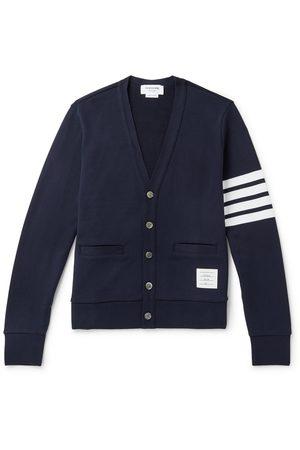 Thom Browne Men Slim - Slim-Fit Striped Cotton Cardigan