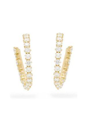 Jade Trau Catherine Diamond & 18kt Hoop Earrings - Womens