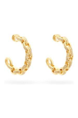 PATCHARAVIPA Diamond & 18kt Chain-hoop Earrings - Womens