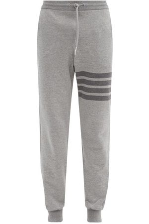 Thom Browne Four-bar Cotton-jersey Track Pants - Mens