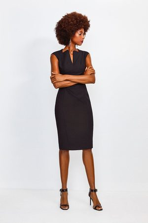 Karen Millen UK & IE Karen Millen Envelope Neck Dress