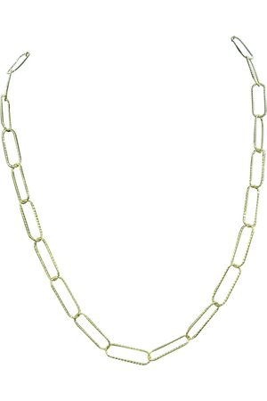 SuperJeweler 14K (6.30 g) Over Sterling Silver Textured Paperclip Chain Necklace, 20 Inches