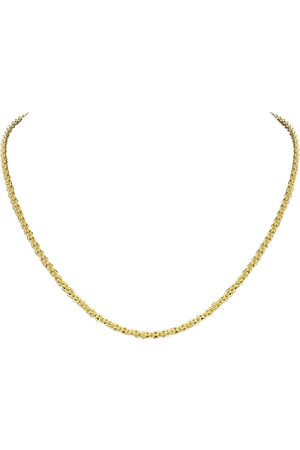 SuperJeweler 14K (9.50 g) Over Sterling Silver Basket Chain Necklace, 18 Inches