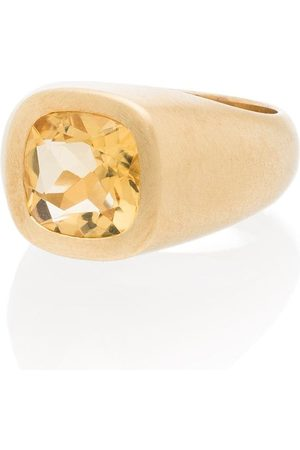 Shola Branson Men Rings - Citrine crystal-embellished ring