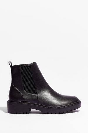 NASTY GAL Womens Walk That Walk Faux Leather Chelsea Boots - - 3